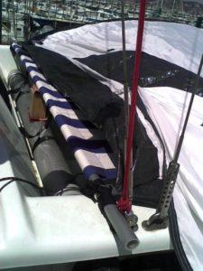 Astus 20.1 : Essai de couchage de cockpit en toile