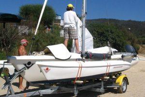 Magnum 21 : Système de repliage de flotteurs