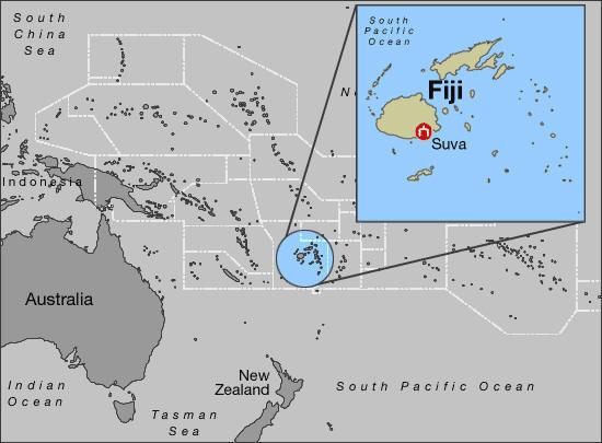 Carte Australie Et Iles Fidji.Les Iles Fidji En Navigator Nautical Trek