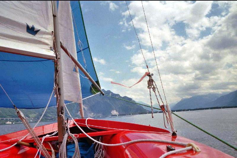 Le Lac Léman en dériveur 420