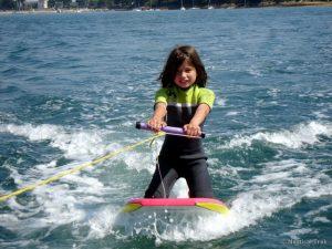 Ski nautique à la voile
