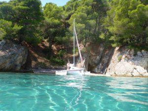 3 semaines en mer Ionienne en trimaran Astus 20.1